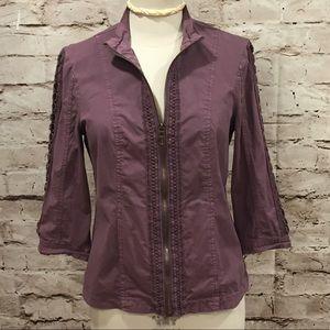 ☀️Anthropologie XCVI Plum Purple Jacket
